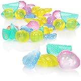 com-four® 72x Cubitos de hielo reutilizables en diferentes colores - Cubitos de hielo para bebidas refrescantes - Cubitos de hielo en diseño de frutas (72 piezas - frutas)
