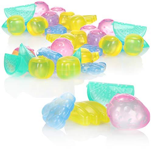 com-four® 72x Cubetti di Ghiaccio Riutilizzabili in Diversi Colori - Cubetti di Ghiaccio in Design di Frutta per Raffreddare Bevande (72 pezzi - frutti)