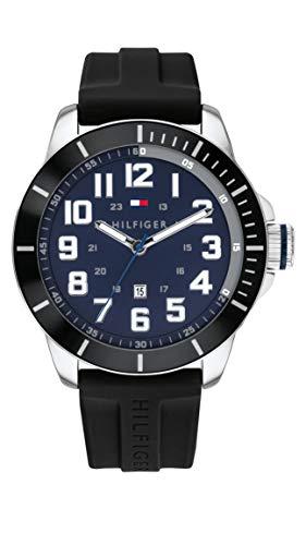 Tommy Hilfiger Reloj Analógico para Hombre de Cuarzo con Correa en Silicona 01791661