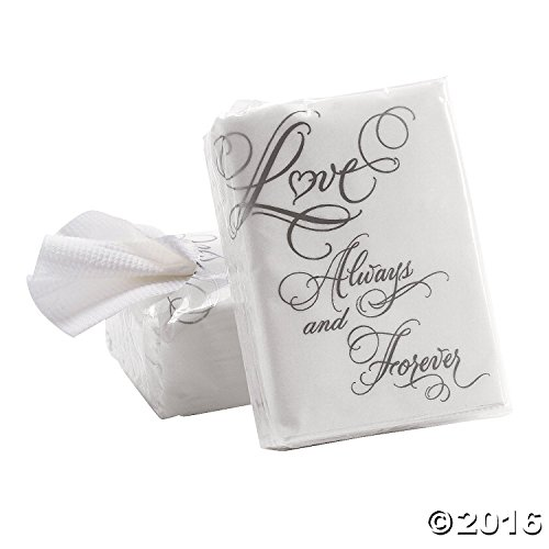 Cool Fun 3-2602 Love Wedding Facial Tissue Packs - 10 Pieces