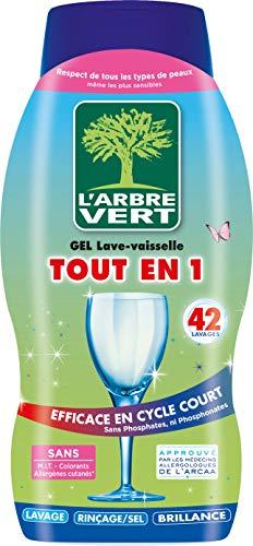 L'arbre vert Gel Lave-Vaisselle Tout en 1 - 42 Lavages - 720ml