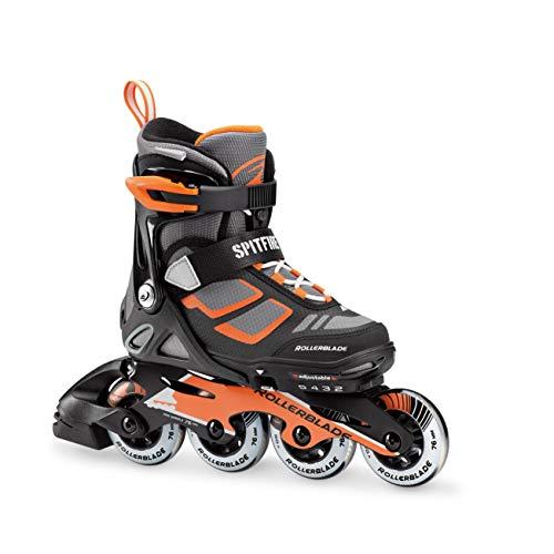 Rollerblade Skates Spitfire LX ALU, Kinder, Schwarz/Orange, XS