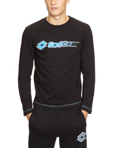 Lotto Sport Phil Men's T-Shirt à Manches Longues Noir Noir Small