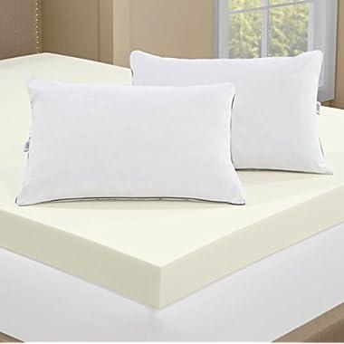 Serta 4-inch Memory Foam Mattress Topper with 2 Memory Foam Pillows -- CAL KING SIZE