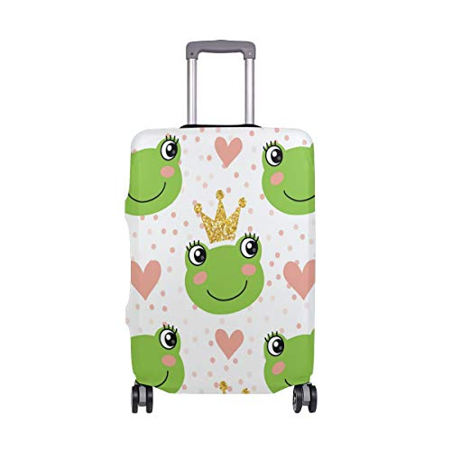 Suitcase Cover Cute Frog Crown Lightweight Luggage Cover Protector Fits 18-32 inch