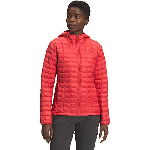 The North Face Women's ThermoBall Eco Hoodie, Horizon Red Matte, S