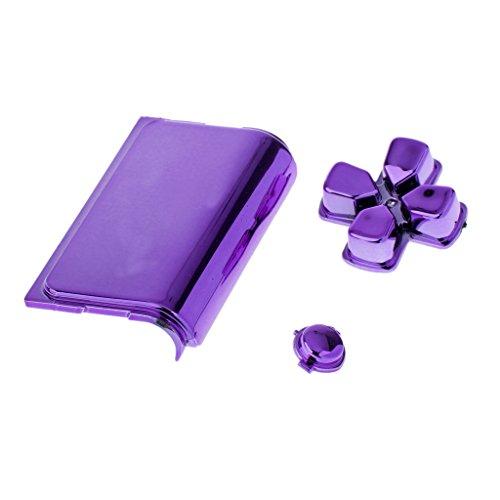 Sostituzione Tasti Pulsanti Kit Cromatura e Touchpad Per PS4 Console