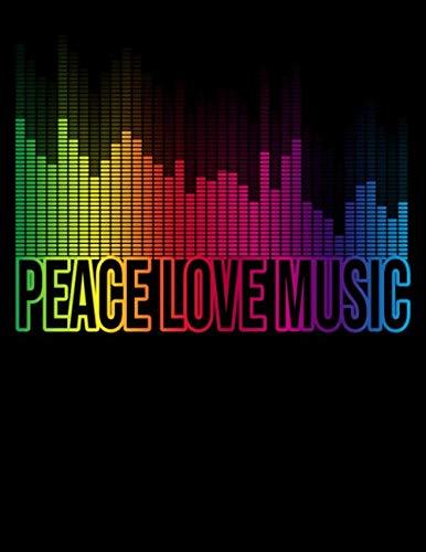 [画像:Peace Love Music: Dot Grid Notebook 100 Dotted Pages Black Cover Multipurpose Notebook/Journal/Diary  (8.5 x 11 inches)]