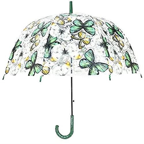 dh-2 Paraguas Paraguas Transparente De Mariposa De Color, Paraguas De Jaula De...