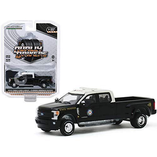 Greenlight 46030-E Dually Drivers Series 3-2019 Ford F-350 Dually - Florida Highway Patrol State Trooper 1:64 Scale
