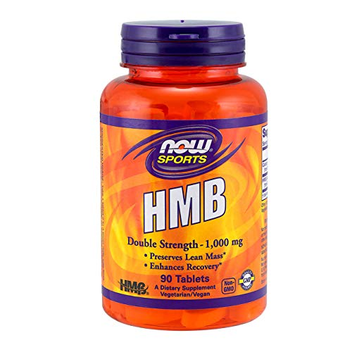 NOW Sports Nutrition, HMB (β-Hydroxy β-Methylbutyrate), Double Strength 1,000 mg, 90 Tablets