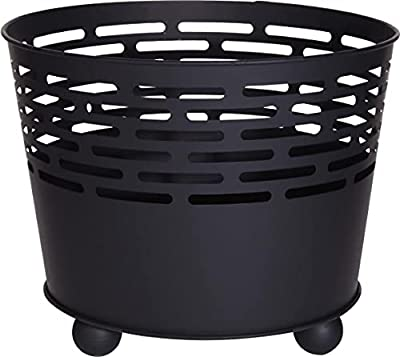 Garden Fire Pit Basket Patio Camping Cast Iron Bowl Outdoor Log Burner Heater from GEEZY