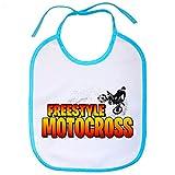 Babero Motocross Freestyle - Celeste