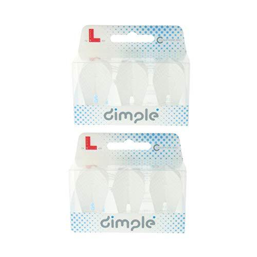 LSTYLE L9 Dimple PRO Fantail Dart-Flights, extra langlebiges Set, weiß 2er Pack