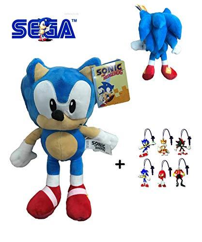 Sonic - Pack Peluche Sonic 30cm Calidad Super Soft + 1