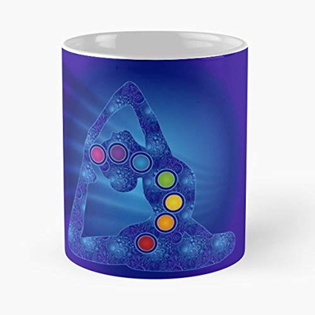 Yoga Pose Chakras 7-11 Oz Coffee Mugs Ceramic The Best Gift For Holidays, Item Use Daily