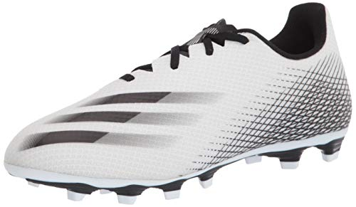 adidas Men's X GHOSTED.4 Soccer Shoe, White/Black/Silver, 8
