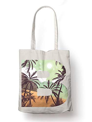 BLAK TEE Beach Beauty Organic Cotton Reusable Shopping Bag Natural