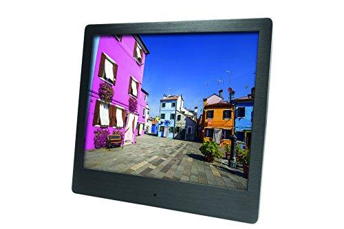 Rollei Pissarro Slim DPF-90 - digitaler Multi-Media Bilderrahmen mit Fernbedienung, 8 Zoll (20,3 cm) und super-flaches TFT-LED Panel - Schwarz