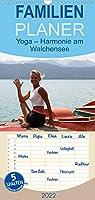 Yoga - Harmonie am Walchensee - Familienplaner hoch (Wandkalender 2022 , 21 cm x 45 cm, hoch): Yoga harmonisch eingebunden am Walchensee (Monatskalender, 14 Seiten )