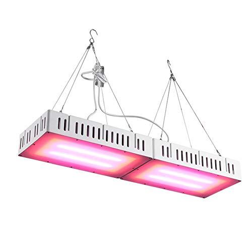 Horypt 600W LED Pflanzenwachstum Licht, mit verstellbarem Seil, Vollspektrum Doppelschalter Pflanzenlicht für Zimmerpflanzen Gemüse und Blüte Alle Phasen des Pflanzenwachstums