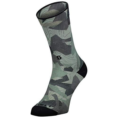 Scott Trail Camo Map Fahrrad Socken grau/schwarz 2021: Größe: L (42-44)
