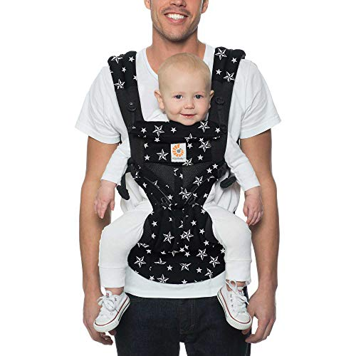Ergobaby Omni 360 All-Position Baby Carrier for Newborn to Toddler with Lumbar Support & Cool Air Mesh (7-45 Lb), Black Stars