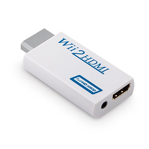 Convertidor de Wii a HDMI, Adaptador de Conversor de Video Wii HDMI Full HD de 720p o 1080p / Salida de Audio de 3,5mm