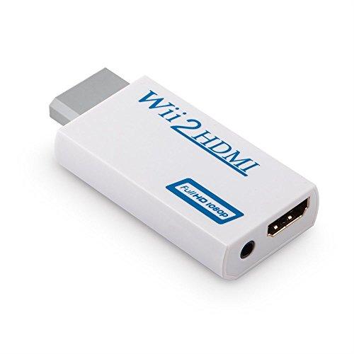 Convertidor de Wii a HDMI, Adaptador de Conversor de Video Wii HDMI Full HD de 720p o 1080p / Salida de Audio de 3,5mm