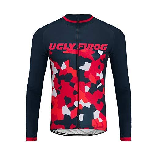 Uglyfrog September Designs Fahrradtrikot Langarm Damen Thermo Radtrikot Pro/Windstopper/Warm/Mantel/Reflektoren/Full Zip