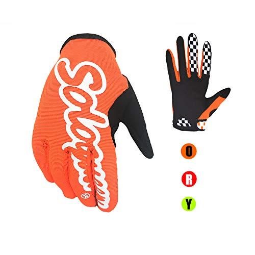 SOLO QUEEN Nur Handschuhe für Radfahrer, atmungsaktiver Handschuh, für Fahrräder und Motorräder von Suburbio. L orange