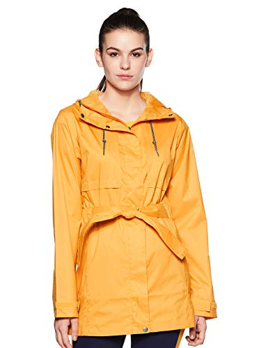 Columbia Women's Pardon My Trench Rain Jacket, Breathable, Lightweight, Small, Raw Honey