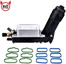 EVIL ENERGY Engine Oil Cooler and Filter Housing Adapter gaskets Sensor Kit Replace 5184294AE Compatible with 2011-2013 Chrysler 200/300 Dodge Journey Jeep Wrangler Ram 3.6L Aluminium Silver
