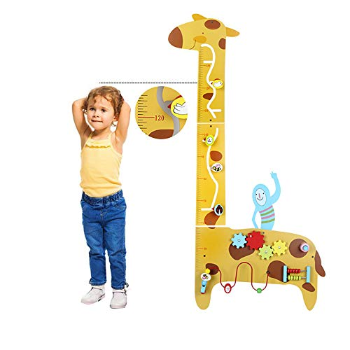 HAPPYMATY Wandspiel aus Holz Krokodil Labyrithe Motorikspiel für Kinderzimmer Spielbrett Spielzeug für Kleinkind KindergartenausstattungLernspielen (Giraffe)