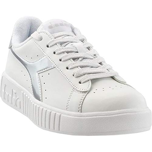 Diadora Womens Game P Step Lace Up Sneakers Shoes Casual - White - Size 9 B