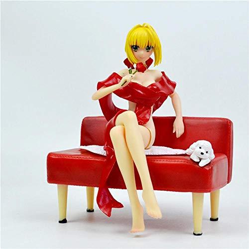 XUEMEI Fate/Stay Night Red Saber 20cm-Action-Figur Statue Modell Nero Claudius Caesar Augustus Germanicus Animierte Charaktere Skulptur Souvenir Puppet Red Saber