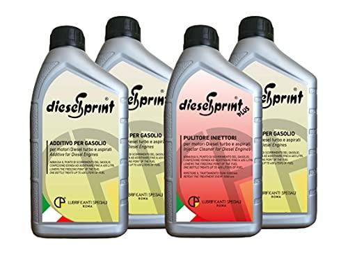 4 LITRI (1 Litro DIESELSPRINT PLUS + 3 Litri DIESELSPRINT) - MAXI KIT ADDITIVO MANTENIMENTO PRESTAZIONI Sistemi di alimentazione Diesel.