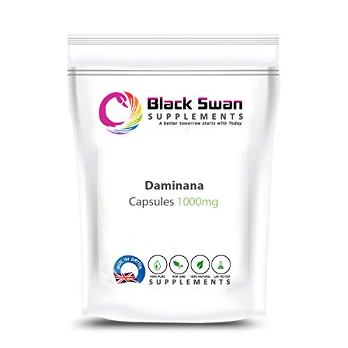 Black swan Damiana 1000mg Capsule | Organic Herbal Supplement | for Sexual Vitality - for Physical and Mental Tiredness (120 caps)