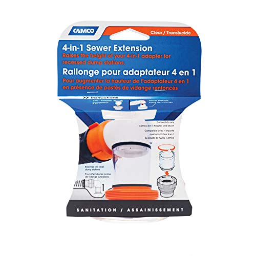 Camco 39735 4-n-1 Sewer Extension for Recessed Dump Station