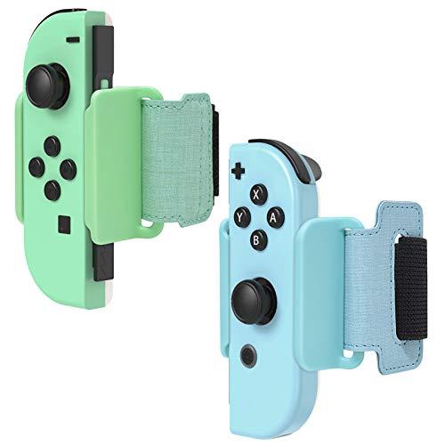 Dance Band per Just Dance 2021 2020 2019 Nintendo Switch, FYOUNG per Just Dance Armband Cinturino Regolabile da Polso Elastico per JoyCons-Blu & Verde 2 Pezzi (4.72-7.5 inches)