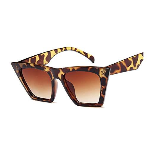 YQSBYI Gafas de Sol cuadradas de Moda Gafas de Sol de Ojo Grande Gafas de Sol Clasísticas para Hombres al Aire Libre y Gafas Protectoras UV (Lenses Color : Leopard)