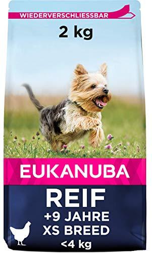 Eukanuba Mature Trockenfutter für reife sehr kleine Hunde mit frischem Huhn, 2kg