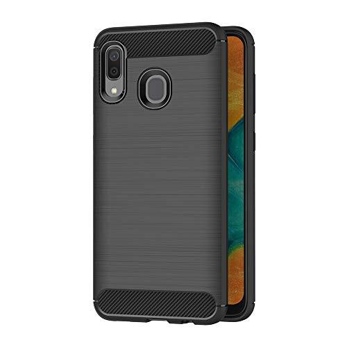 AICEK Cover Samsung Galaxy A20 / Samsung Galaxy A30, Nero Custodia Samsung A20 Silicone Molle Black Cover per Galaxy A30 Soft TPU Case (6.4 Pollici)