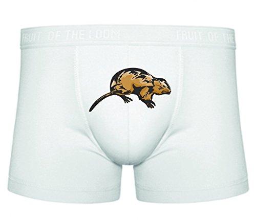 Boxershort Maus Hamster Kleintier Haustier Ungeziefer Käse Mausefalle Rattenfalle Hamsterrad S- XXL Sexy Unterhose Slip Shorts