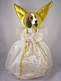 Basset Hound Doogie Collection Angel Tree Topper