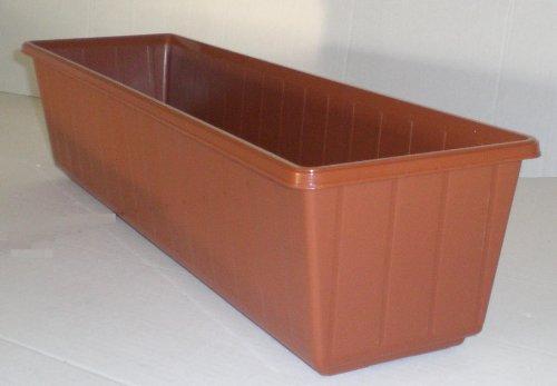 Jardinière de balcon en plastique Couleur terre cuite 40 cm