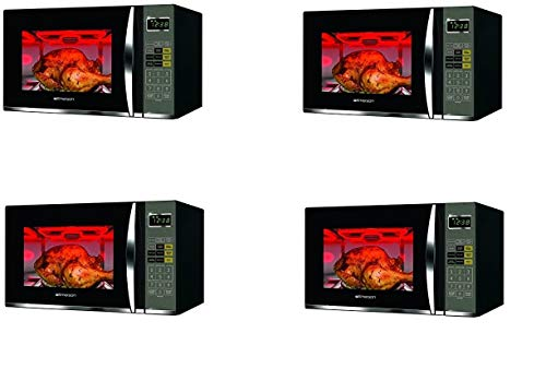 Emerson 1.2 CU. FT. 1100W Griller Microwave Oven with Touch Control, Stainless Steel, MWG9115SB (Fоur Расk, Black & Stainless Steel)