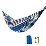 Hamaca de camping para exteriores   Hamaca portátil, mochilero y equipo de camping, para árbol de viaje y equipo de senderismo, cama hamaca que sostiene 180 kg