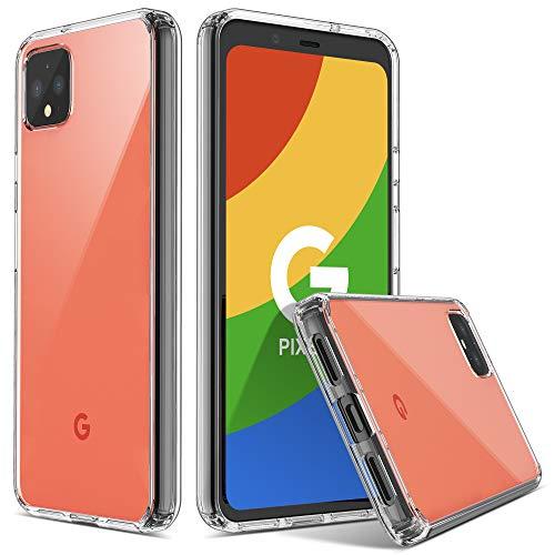 ULAK Capa Para Google Pixel 4, Capa Protetora Ultra-Híbrida Fina Transparente Anti-Arranhões De Absorção De Choque TPU Capa Protetora Projetada Para Google Pixel 4 (2019), HD Claro