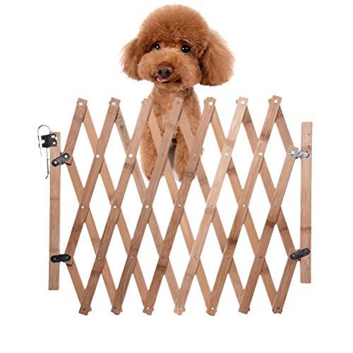 Yissma YissmaTrapbeschermingsrooster hond afsluitrooster houten uittrekbare plank uittrekbaar - hondenrooster hondenafsluitrooster